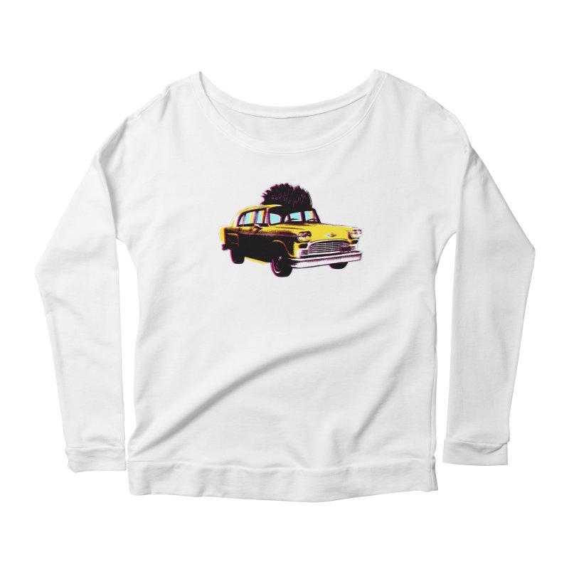 Cab Driver Women's Scoop Neck Longsleeve T-Shirt by Steve Dressler Illustration & Design
