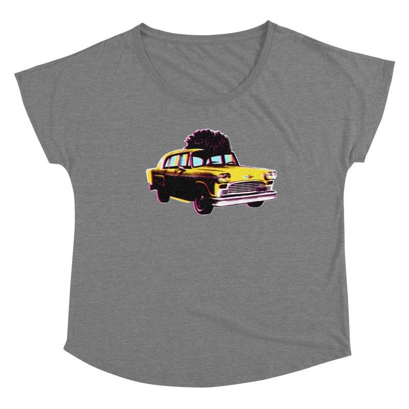 Cab Driver Women's Scoop Neck by Steve Dressler Illustration & Design