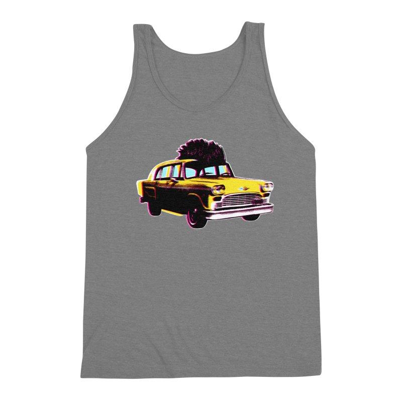 Cab Driver Men's Triblend Tank by Steve Dressler Illustration & Design