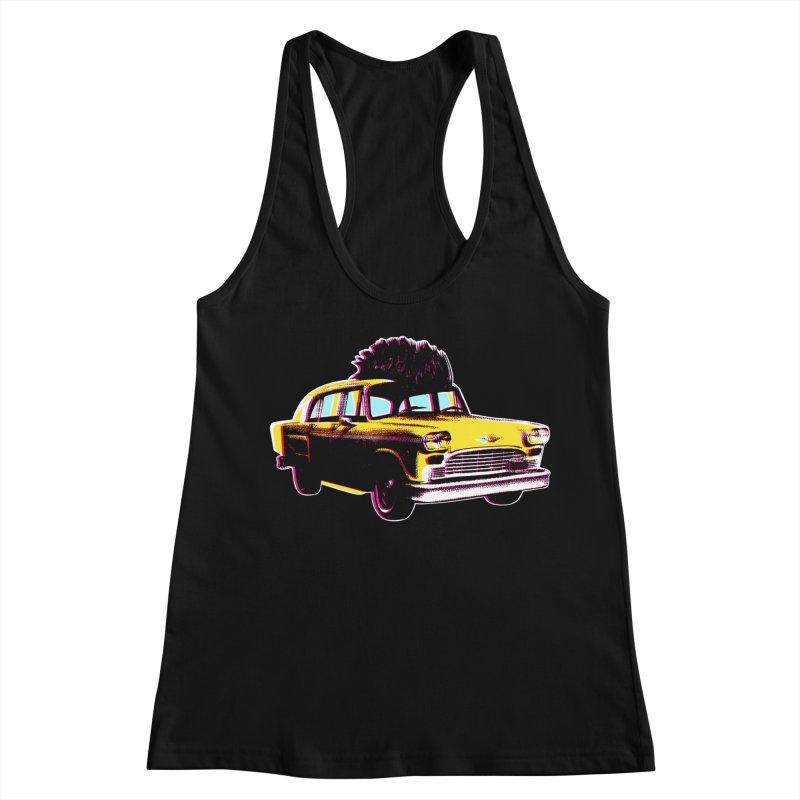 Cab Driver Women's Racerback Tank by Steve Dressler Illustration & Design