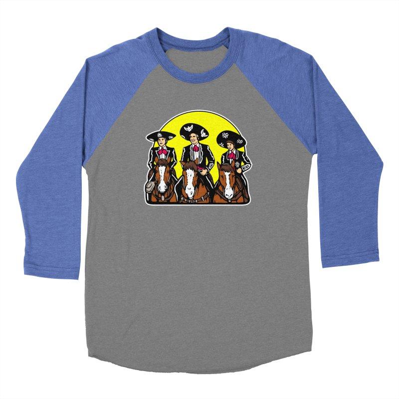 The Three Friends Women's Baseball Triblend Longsleeve T-Shirt by Steve Dressler Illustration & Design