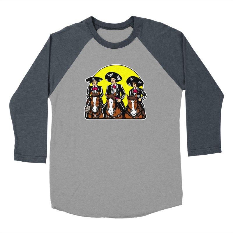 The Three Friends Men's Baseball Triblend Longsleeve T-Shirt by Steve Dressler Illustration & Design