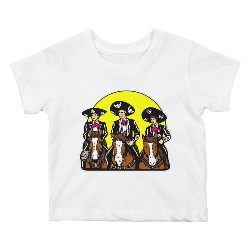 The Three Friends Kids Baby T-Shirt by Steve Dressler Illustration & Design