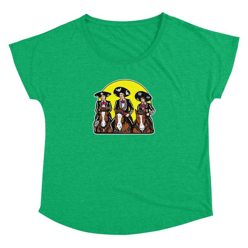 The Three Friends Women's Dolman Scoop Neck by Steve Dressler Illustration & Design