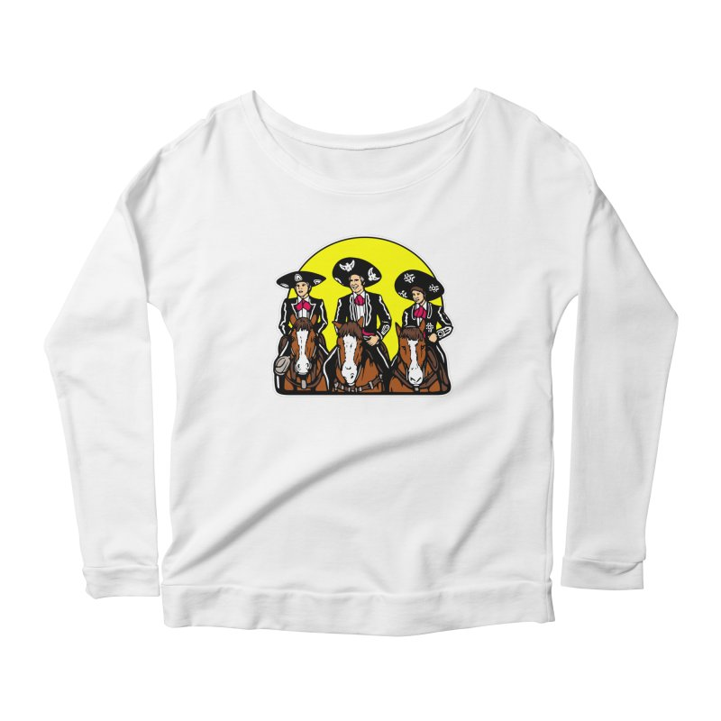 The Three Friends Women's Scoop Neck Longsleeve T-Shirt by Steve Dressler Illustration & Design