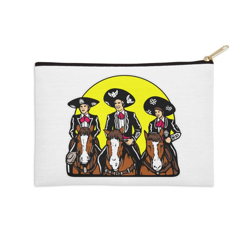 The Three Friends Accessories Zip Pouch by Steve Dressler Illustration & Design