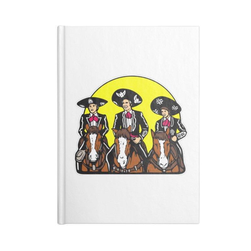 The Three Friends Accessories Lined Journal Notebook by Steve Dressler Illustration & Design