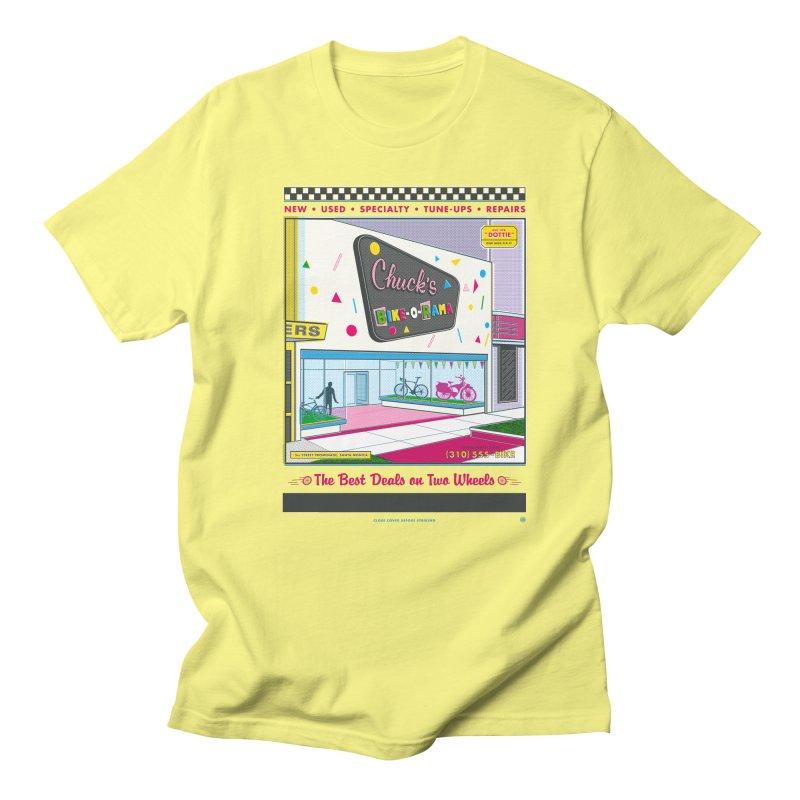 Chuck's Bike-O-Rama Men's T-Shirt by Steve Dressler Illustration & Design