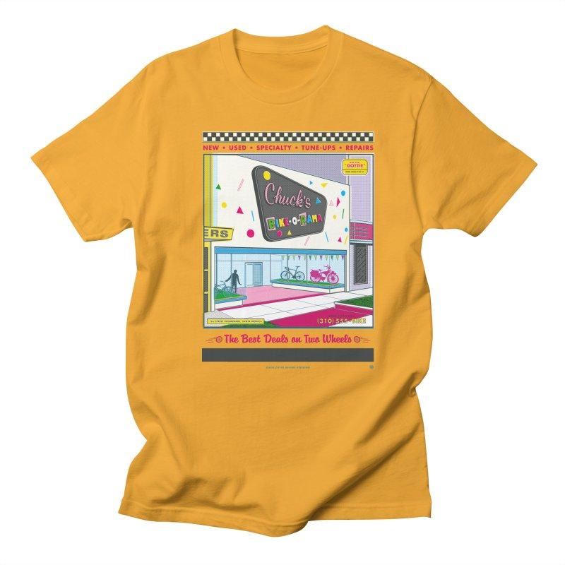 Chuck's Bike-O-Rama Men's Regular T-Shirt by Steve Dressler Illustration & Design