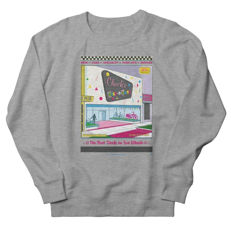 Chuck's Bike-O-Rama Women's French Terry Sweatshirt by Steve Dressler Illustration & Design