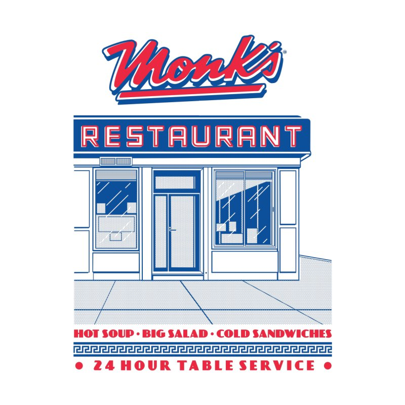 Monk's Restaurant Kids T-Shirt by Steve Dressler Illustration & Design