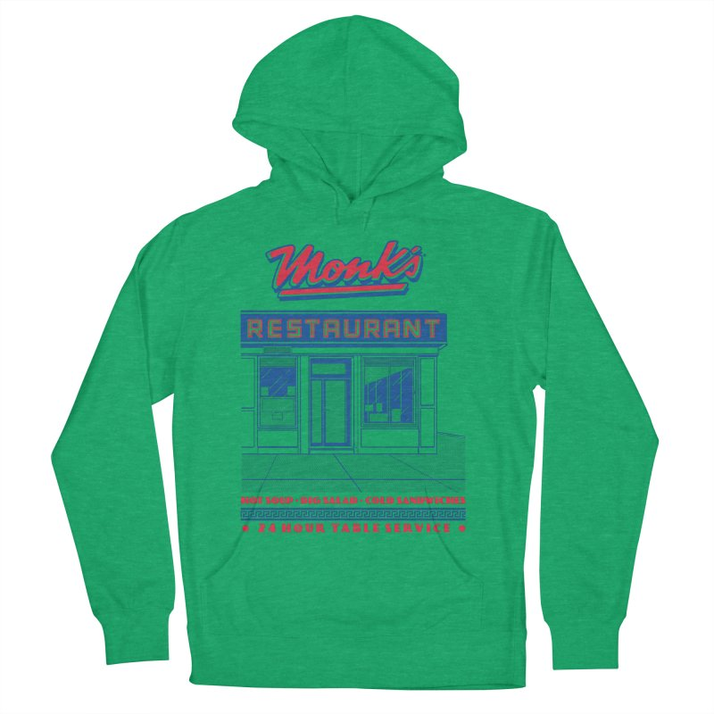Monk's Restaurant Men's French Terry Pullover Hoody by Steve Dressler Illustration & Design