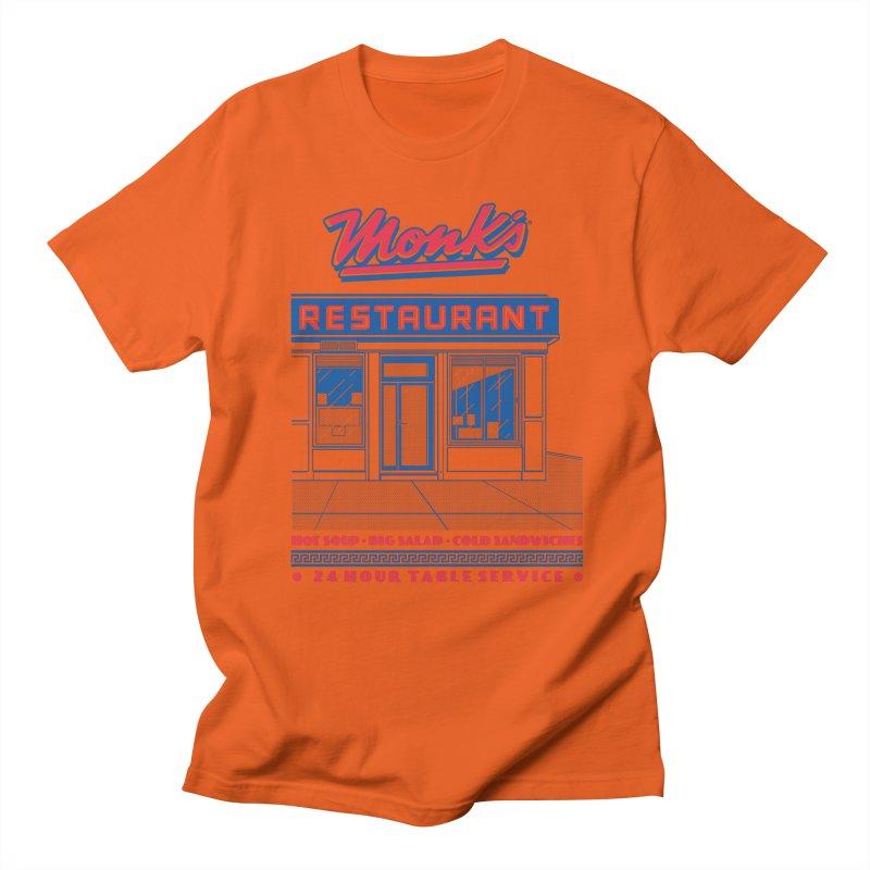 Monk's Restaurant Men's Regular T-Shirt by Steve Dressler Illustration & Design