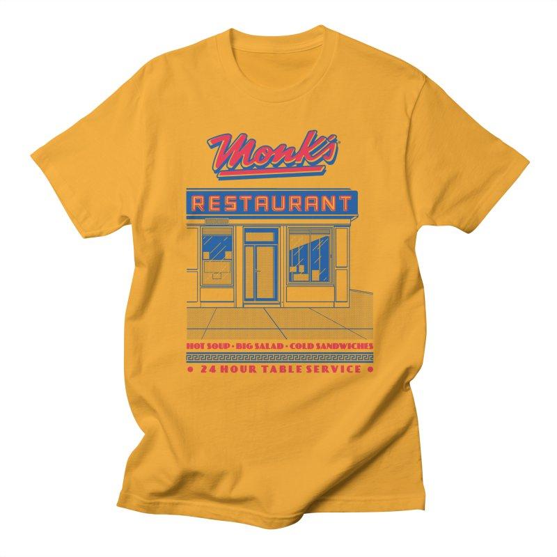 Monk's Restaurant Women's Regular Unisex T-Shirt by Steve Dressler Illustration & Design