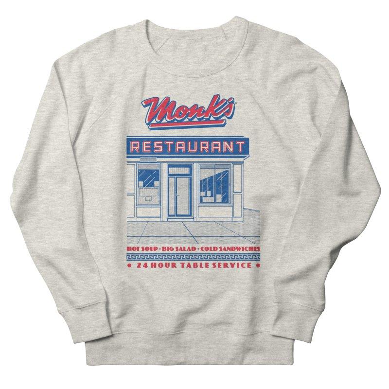 Monk's Restaurant Men's French Terry Sweatshirt by Steve Dressler Illustration & Design