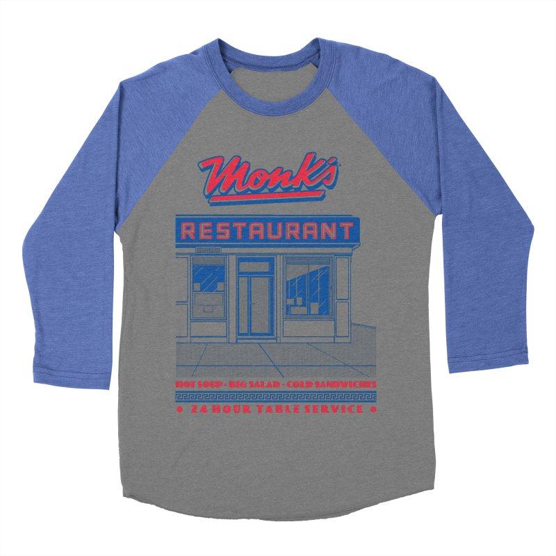Monk's Restaurant Women's Baseball Triblend Longsleeve T-Shirt by Steve Dressler Illustration & Design