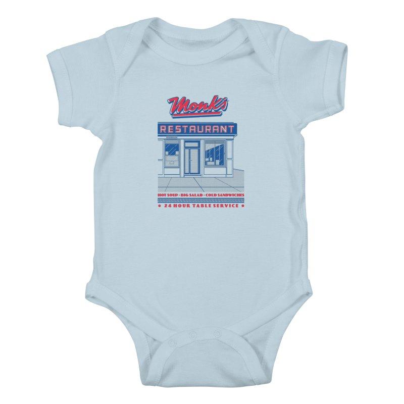 Monk's Restaurant Kids Baby Bodysuit by Steve Dressler Illustration & Design