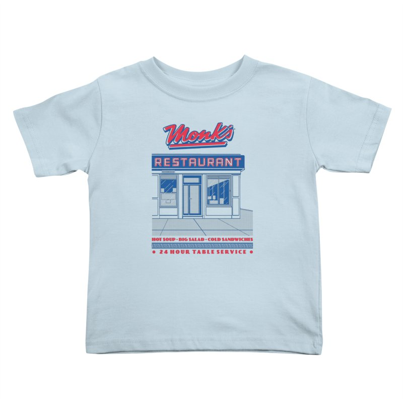 Monk's Restaurant Kids Toddler T-Shirt by Steve Dressler Illustration & Design