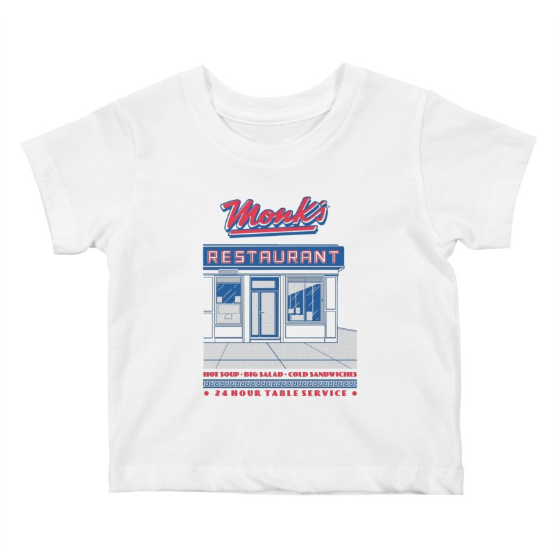 Monk's Restaurant Kids Baby T-Shirt by Steve Dressler Illustration & Design