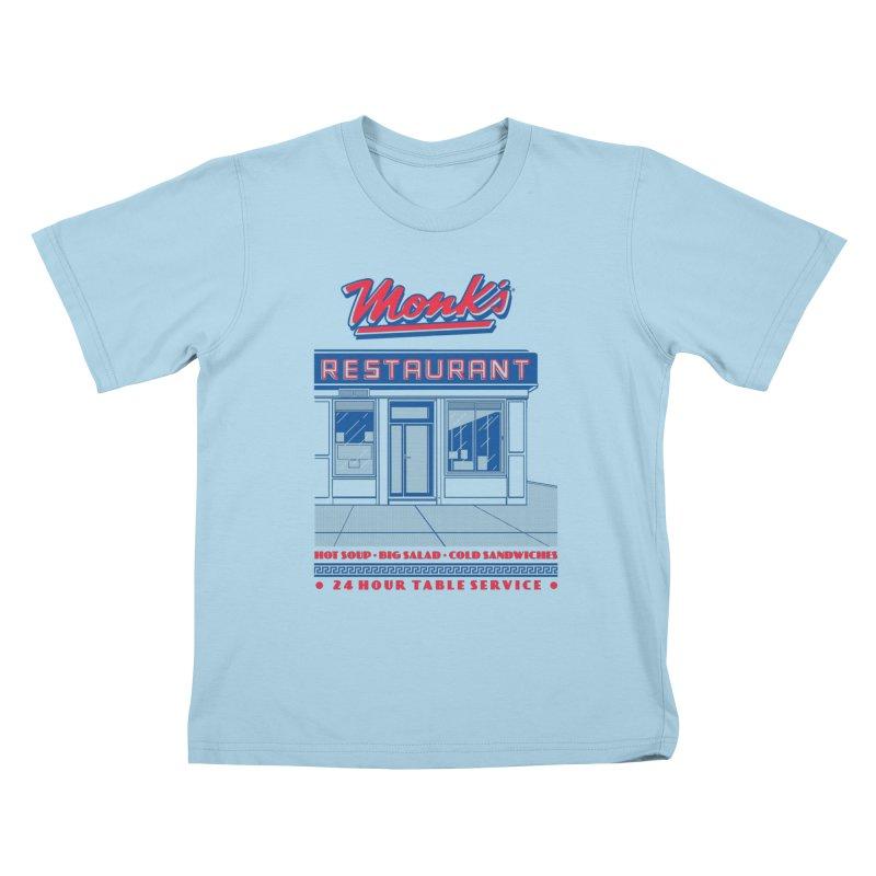 Monk's Restaurant Kids T-Shirt by Steve Dressler Illustration & Design