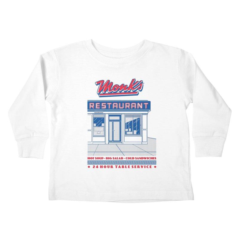 Monk's Restaurant Kids Toddler Longsleeve T-Shirt by Steve Dressler Illustration & Design