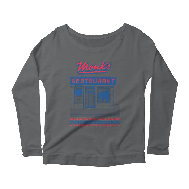 Monk's Restaurant Women's Longsleeve T-Shirt by Steve Dressler Illustration & Design