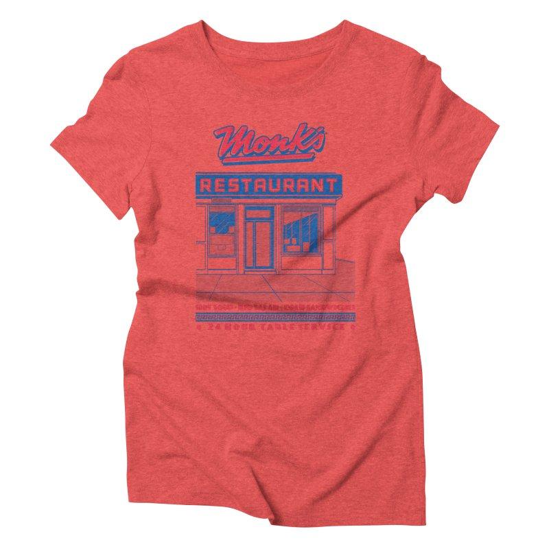 Monk's Restaurant Women's Triblend T-Shirt by Steve Dressler Illustration & Design