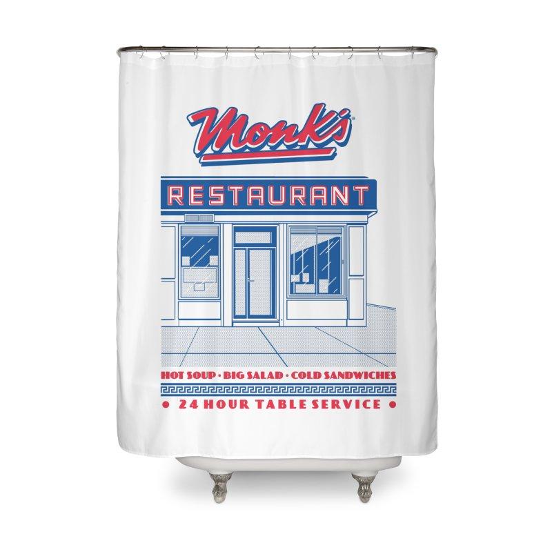 Monk's Restaurant Home Shower Curtain by Steve Dressler Illustration & Design