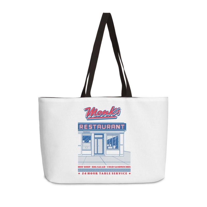 Monk's Restaurant Accessories Weekender Bag Bag by Steve Dressler Illustration & Design