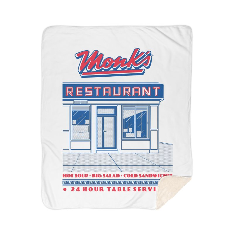 Monk's Restaurant Home Blanket by Steve Dressler Illustration & Design