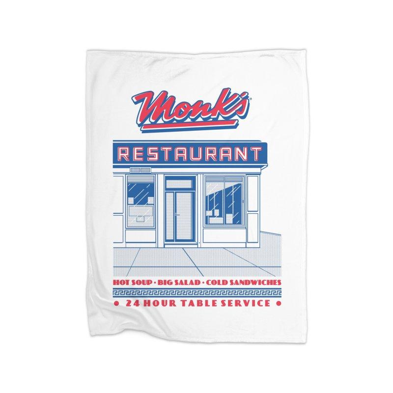 Monk's Restaurant Home Fleece Blanket Blanket by Steve Dressler Illustration & Design