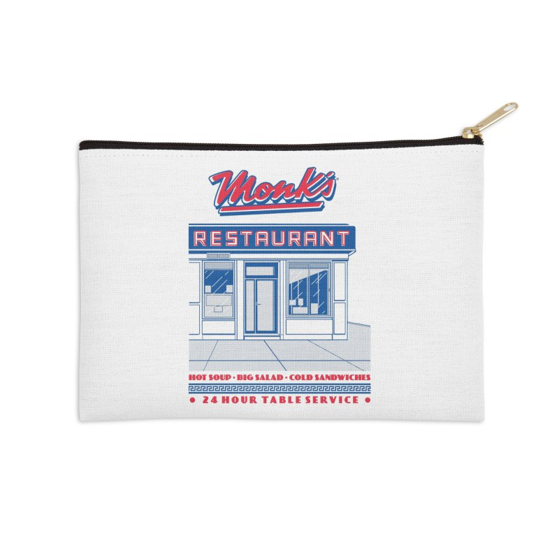Monk's Restaurant Accessories Zip Pouch by Steve Dressler Illustration & Design