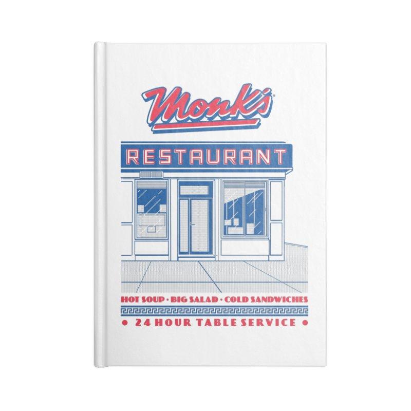 Monk's Restaurant Accessories Lined Journal Notebook by Steve Dressler Illustration & Design