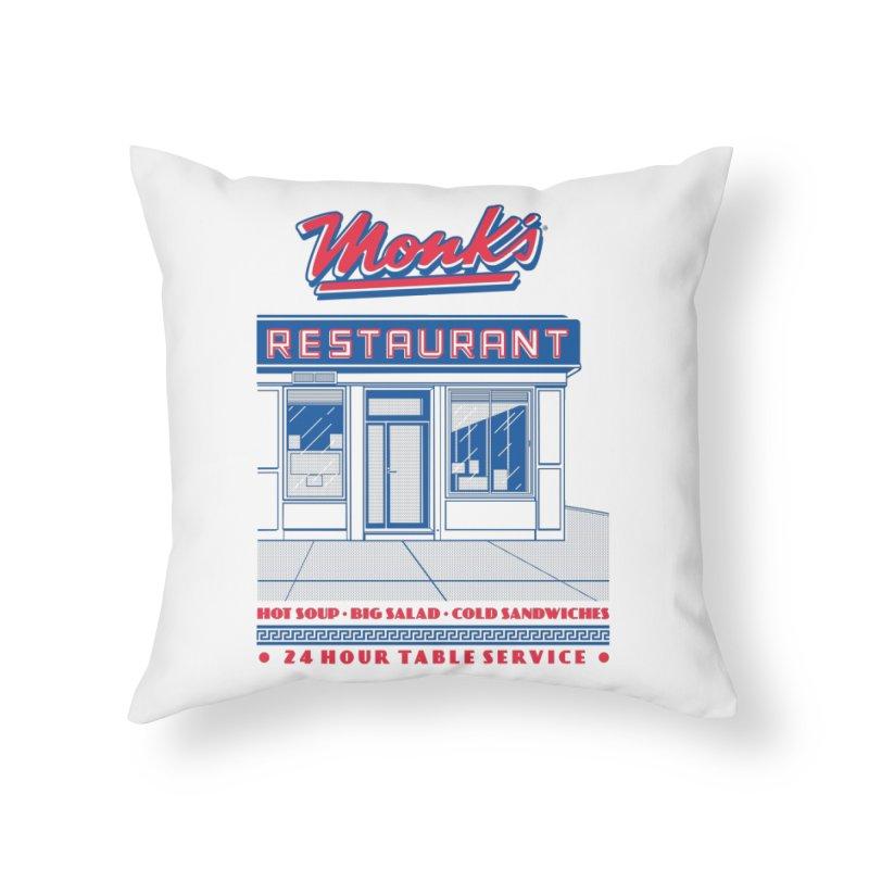 Monk's Restaurant Home Throw Pillow by Steve Dressler Illustration & Design