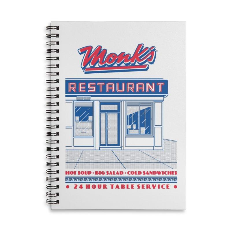 Monk's Restaurant Accessories Lined Spiral Notebook by Steve Dressler Illustration & Design