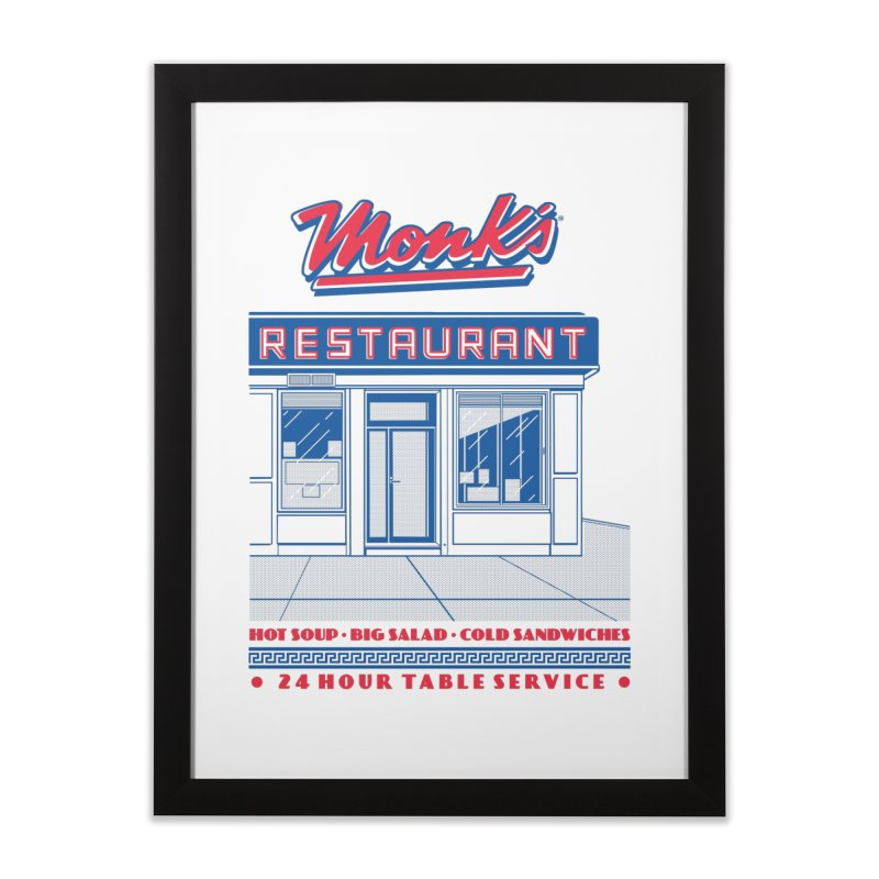 Monk's Restaurant Home Framed Fine Art Print by Steve Dressler Illustration & Design