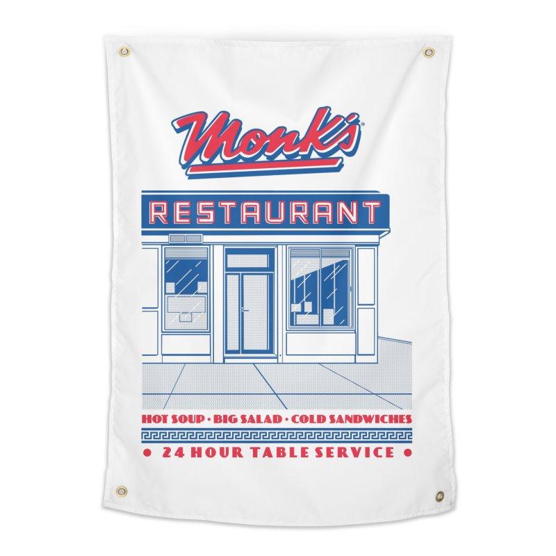 Monk's Restaurant Home Tapestry by Steve Dressler Illustration & Design