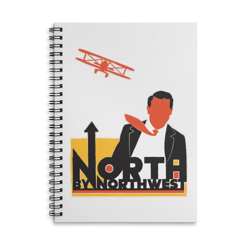 N / NW Accessories Lined Spiral Notebook by Steve Dressler Illustration & Design