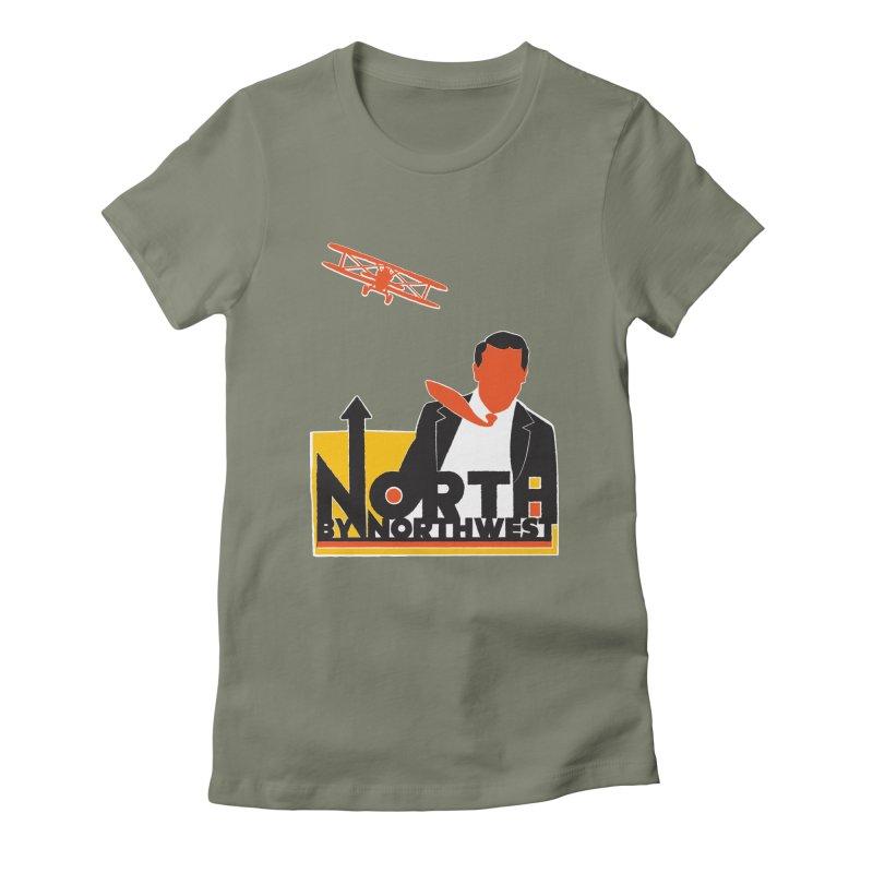N / NW Women's Fitted T-Shirt by Steve Dressler Illustration & Design