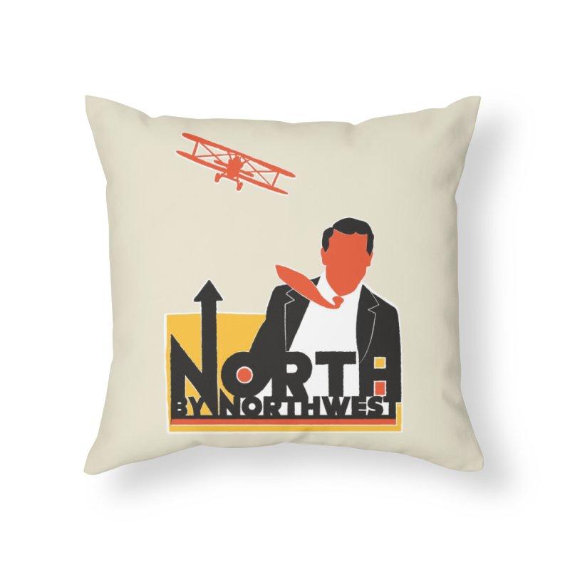 N / NW Home Throw Pillow by Steve Dressler Illustration & Design