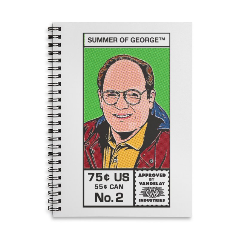 Summer Of George Accessories Lined Spiral Notebook by Steve Dressler Illustration & Design
