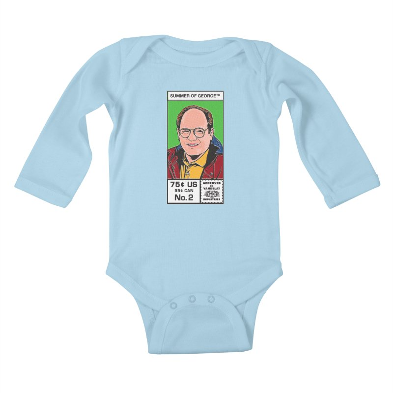 Summer Of George Kids Baby Longsleeve Bodysuit by Steve Dressler Illustration & Design