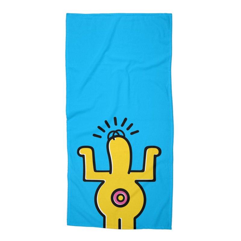 Woo-hoo! Accessories Beach Towel by Steve Dressler Illustration & Design