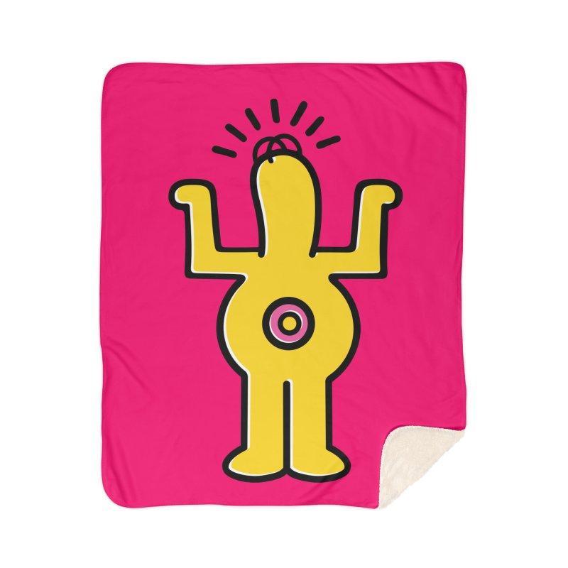 Woo-hoo! Home Sherpa Blanket Blanket by Steve Dressler Illustration & Design