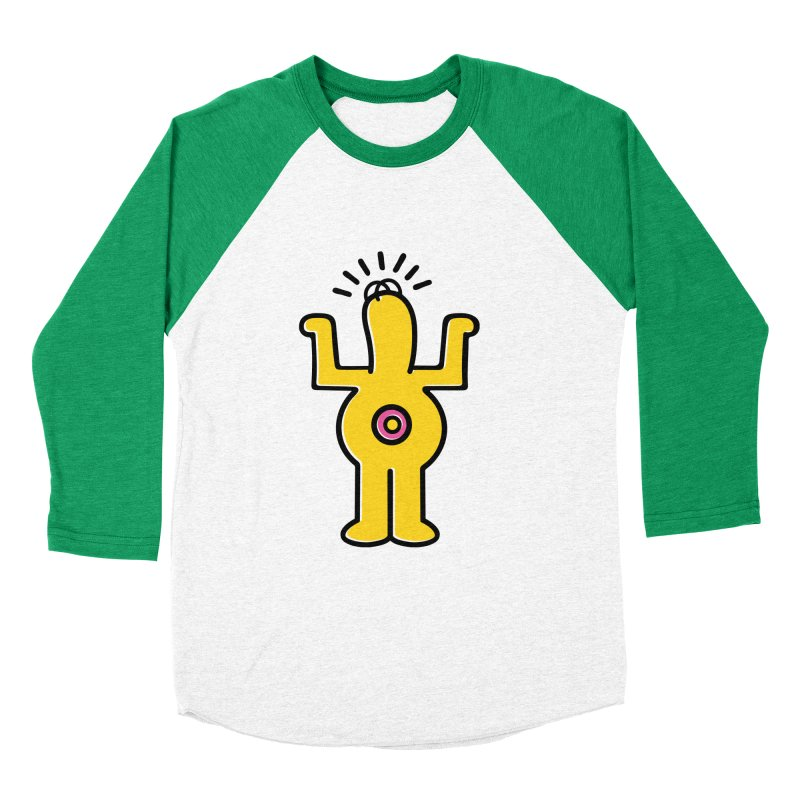 Woo-hoo! Men's Baseball Triblend Longsleeve T-Shirt by Steve Dressler Illustration & Design