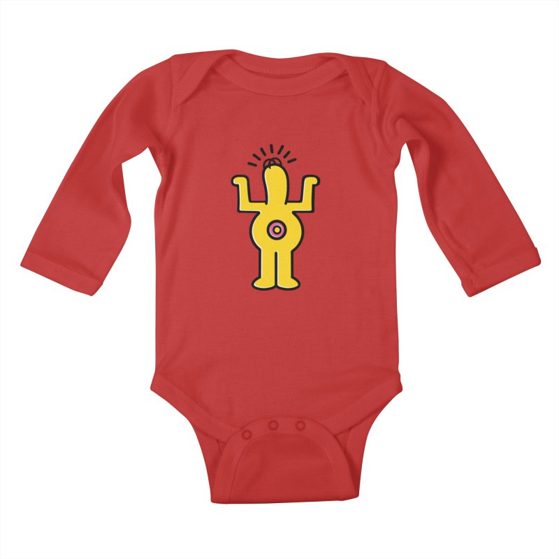 Woo-hoo! Kids Baby Longsleeve Bodysuit by Steve Dressler Illustration & Design