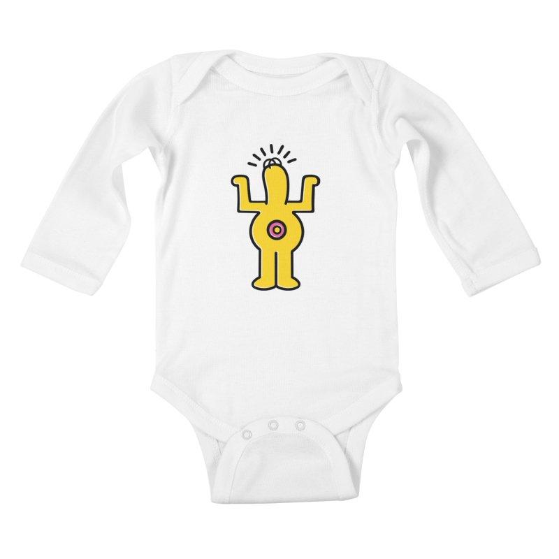 Woo-hoo! Kids Baby Longsleeve Bodysuit by Steve Dressler Illustration & Design