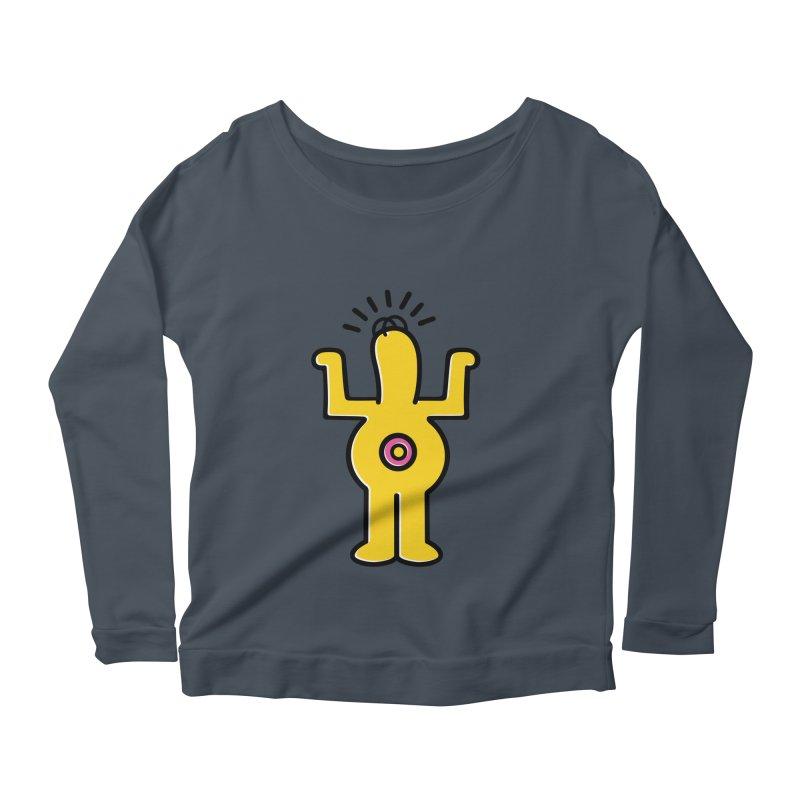 Woo-hoo! Women's Scoop Neck Longsleeve T-Shirt by Steve Dressler Illustration & Design