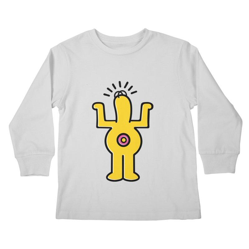 Woo-hoo! Kids Longsleeve T-Shirt by Steve Dressler Illustration & Design