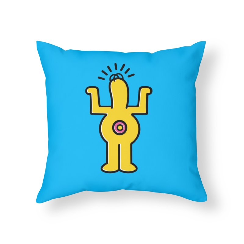 Woo-hoo! Home Throw Pillow by Steve Dressler Illustration & Design